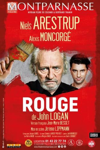 rouge,théâtre montparnasse,niels arestrup,alexis moncorgé,john logan,jean-marie besset,jérémie lippmann