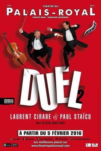 laurent cirade,paul staicu,théâtre du palais-royal,duel,duel opus 2,violoncelle,piano,spokojny consulting,agnès boury