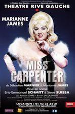 miss carpenter,marianne james,théâtre rive gauche