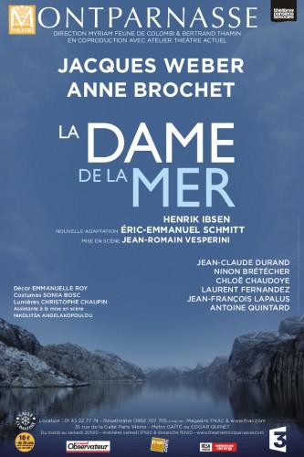 théâtre montparnasse,la dame de lamer,laurence caron-spokojny