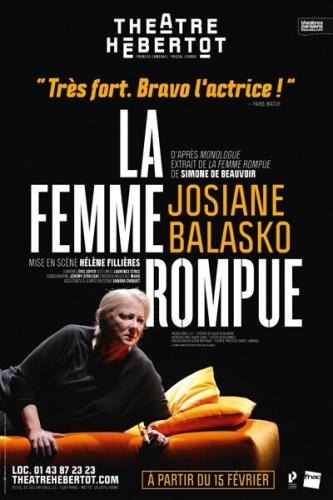 josiane balasko,simone de beauvoir,theatre hebertot